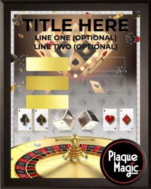 Gambling Gold - 12 Plate Perpetual Plaque