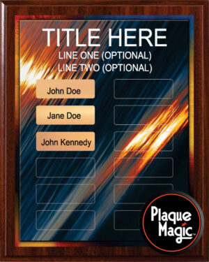 Gold Strike - 12 Plate Perpetual Plaque