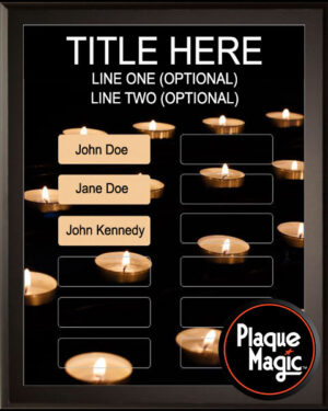 Golden Candle - 12 Plate Perpetual Plaque