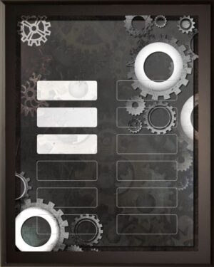 Gears - 12 Plate Perpetual Plaque