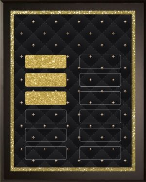 Gold Diamond Stud - 12 Plate Perpetual Plaque
