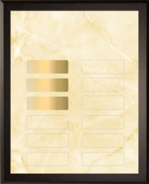 Gold Marble - 12 Plate Perpetual Plaque