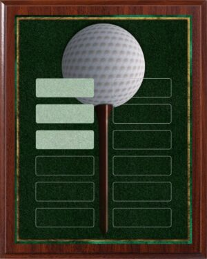 Golf Tee - 12 Plate Perpetual Plaque