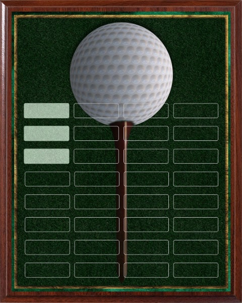 Golf Tee - 32 Plate Perpetual Plaque