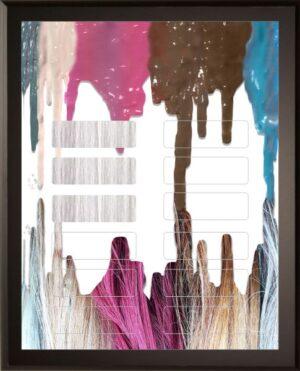 Color Drip - 12 Plate Perpetual Plaque