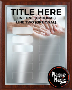Helping Hands - 12 Plate Perpetual Plaque