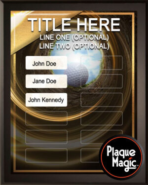 Hole in One - 12 Plate Perpetual Plaque