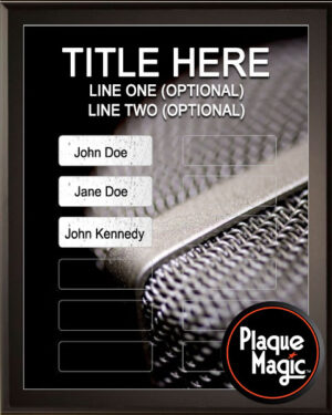 Mic Grid - 12 Plate Perpetual Plaque