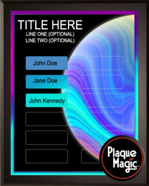 Neon Planet - 12 Plate Perpetual Plaque