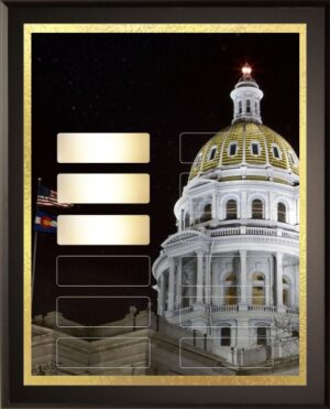 Night in Denver - 12 Plate Perpetual Plaque