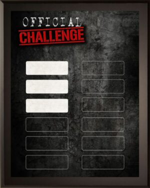 Official Challenge - 12 Plate Perpetual Plaque