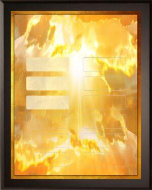 Orange Ray - 12 Plate Perpetual Plaque