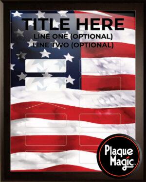Patriotic - 12 Plate Perpetual Plaque