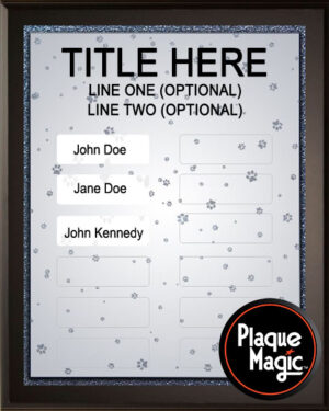 Paw Track - 12 Plate Perpetual Recognition & Award Plaque