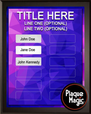 Pink Purple - 12 Plate Perpetual Plaque