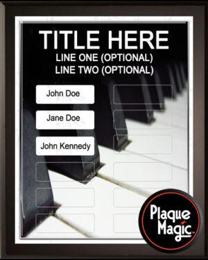 Piano Keys - 12 Plate Perpetual Plaque