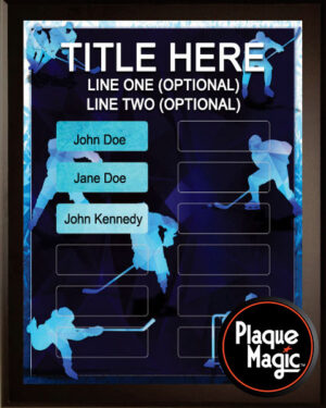 Prism Hockey - 12 Plate Perpetual Plaque