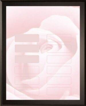 Pink Rose - 12 Plate Perpetual Plaque