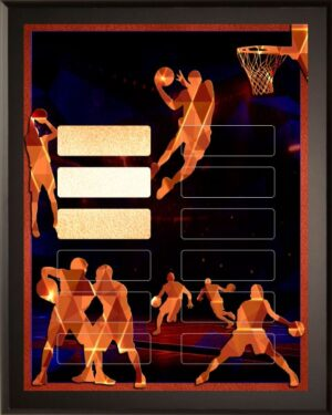 Prism Basketball - 12 Plate Perpetual Plaque