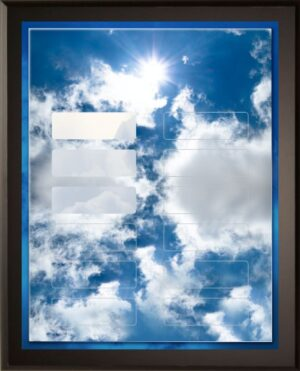 Puffy Clouds - 12 Plate Perpetual Plaque