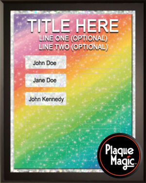 Rainbow - 12 Plate Perpetual Recognition & Award Plaque