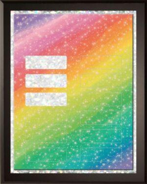 Rainbow - 12 Plate Perpetual Plaque