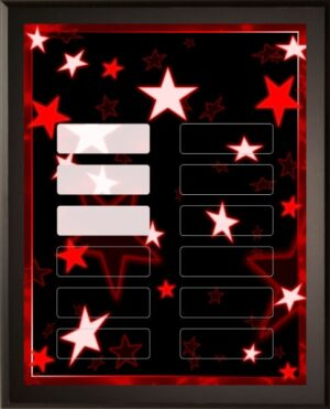 Red Stars - 12 Plate Perpetual Plaque