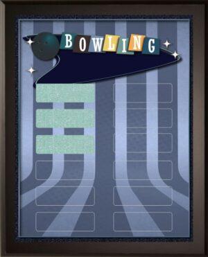 Retro Bowling - 12 Plate Perpetual Plaque