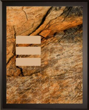 Rock - 12 Plate Perpetual Plaque