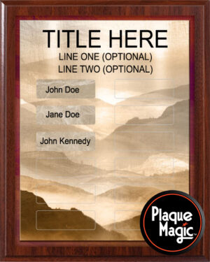 Rolling Hills - 12 Plate Perpetual Recognition & Award Plaque