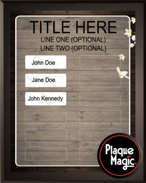 Rustic Wood - Perpetual Recognition Award Plaque - 12Plate