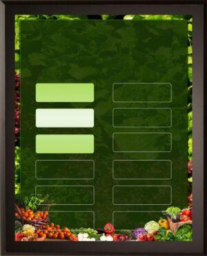 Salad Bar - 18 Plate Perpetual Plaque