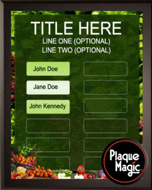 Salad Bar - 12 Plate Perpetual Recognition & Award Plaque