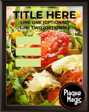 Salad - 12 Plate Perpetual Recognition & Award Plaque