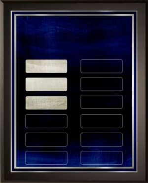Silver Blue - 12 Plate Perpetual Plaque