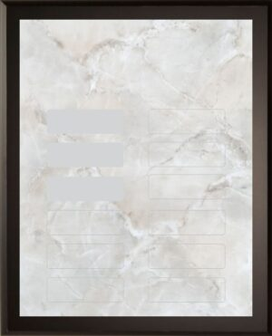 Silver Marble - 12 Plate Perpetual Plaque