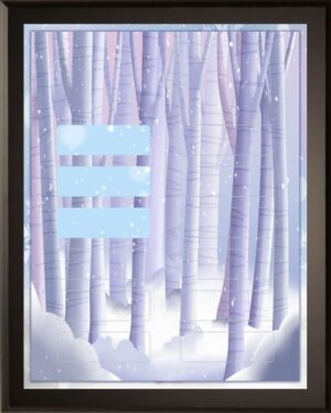 Snowy Forest - Perpetual Recognition Award Plaque - 12Plate