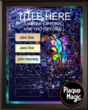 Stained Glass - 12 Plate Perpetual Plaque