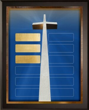 Tall Cross - 12 Plate Perpetual Plaque
