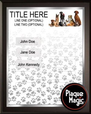 PawTastic - 12 Plate Perpetual Plaque