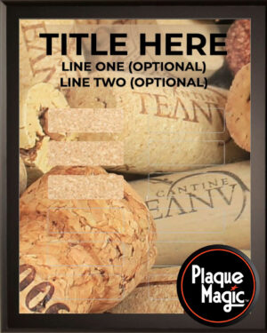 Wine Corks - 12 Plate Perpetual Plaque