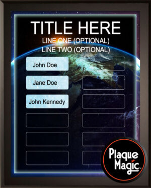 World Scope - 12 Plate Perpetual Plaque