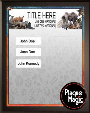 Zoo Menagerie - 12 Plate Perpetual Plaque