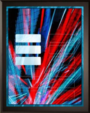Abstract Art: 12 Plate Perpetual Plaque
