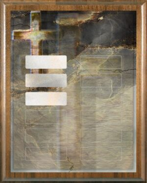 Abstract Cross Perpetual Recognition Award Plaque- 12Plate