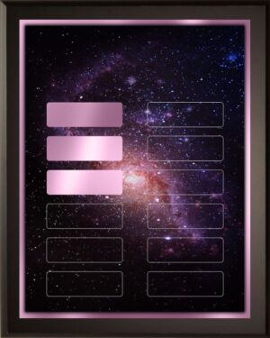 Cosmos - Perpetual Recognition Award Plaque - 12Plate