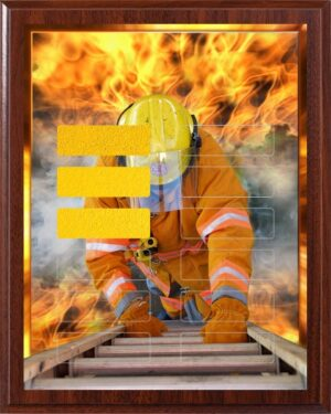 Fighting Fire - 12 Plate Perpetual Plaque