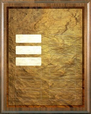 Golden Tablet - Perpetual Recognition Award Plaque - 12Plate