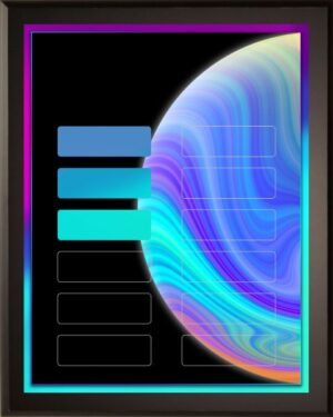 Neon Planet - Perpetual Recognition Award Plaque - 12Plate