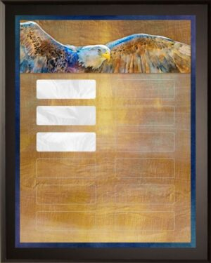 Soaring Eagle - Perpetual Recognition Award Plaque - 12Plate